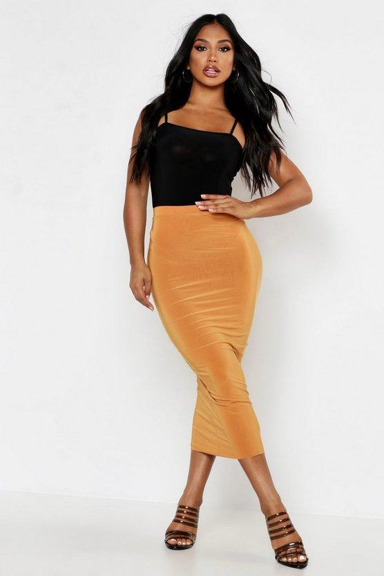 Double Up Slinky Midaxi Skirt