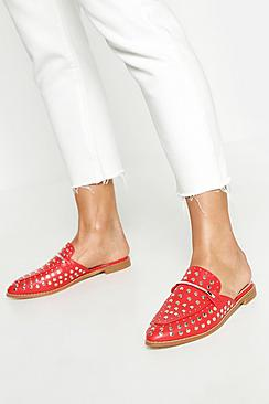 Studded Mule Loafers