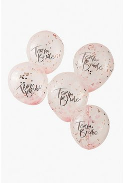 Multi Ginger Ray Confetti Balloons Team Bride 5pk