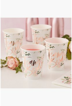 Lot de 8 coupes Team Bride imprimé floral, Multi, Femme
