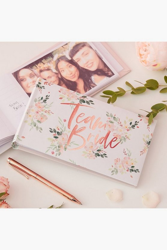 Womens Multi Floral Team Bride Photo Album