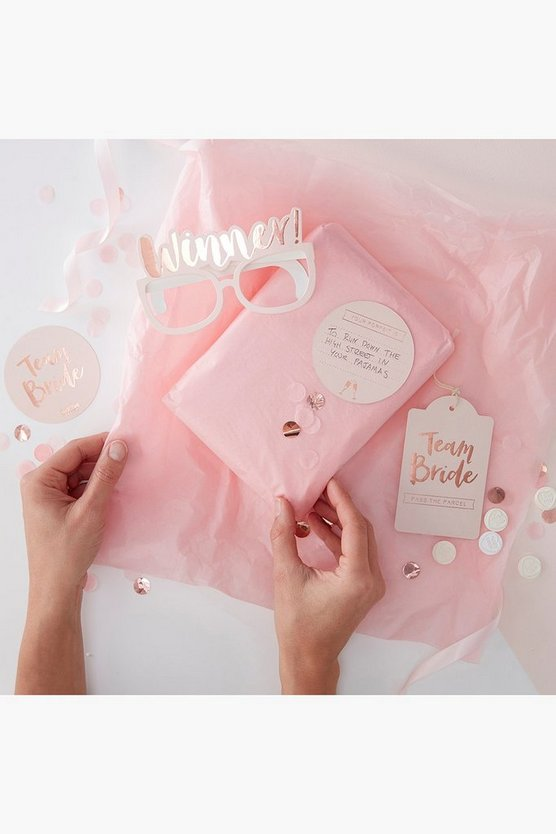 Womens Pink Team Bride Pass The Parcel