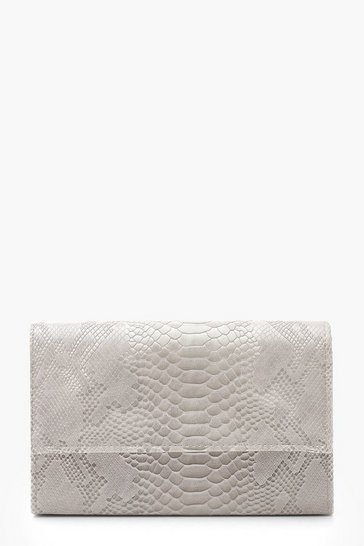 2d02dc5109 Croc Flap & Chain Clutch Bag