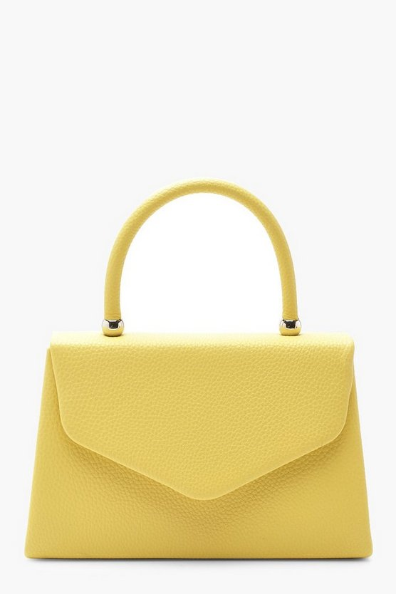 Womens Lemon Textured Mini Clutch & Handle