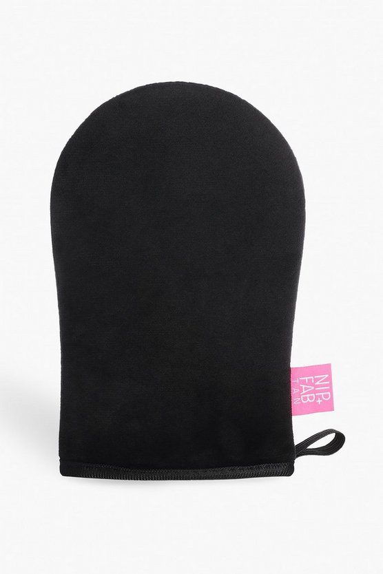 Womens Black Nip + Tab Luxury Tanning Mitt