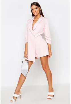 Womens Rose Tailored Woven Blazer Playsuit