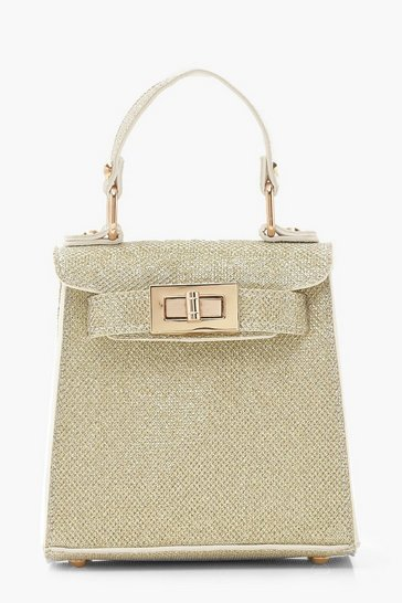 Womens Gold Shimmer Mini Grab Bag