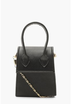Womens Black Teeny Tiny Cross Body Bag