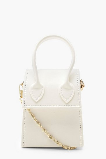 Womens White Teeny Tiny Cross Body Bag