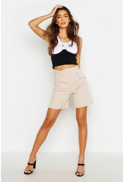 Ecru The Tailored Belted City Short