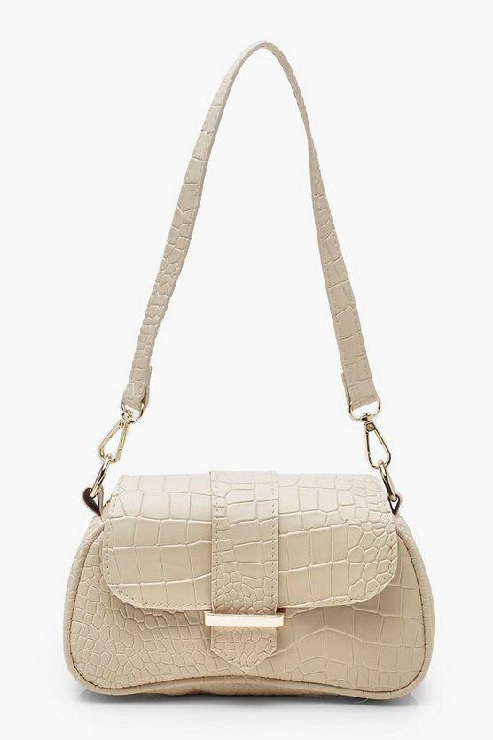 Baguette Croc Bag by Boohoo