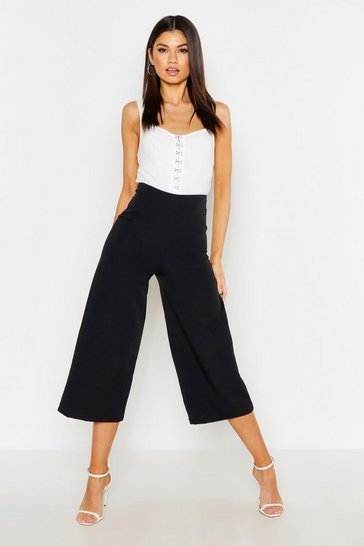 Black The Tailored Wide Leg Culotte