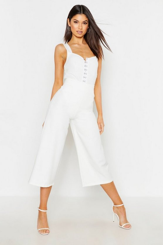 Womens Ivory The Tailored Wide Leg Culotte