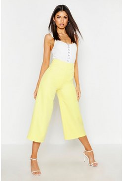 Yellow The Tailored Wide Leg Culotte