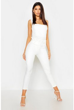 Ivory The Tailored Paperbag Waist Ankle Grazer