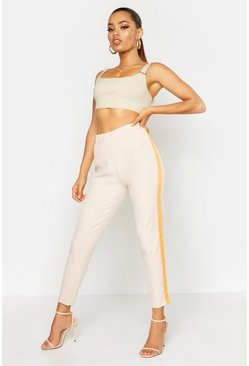 Stone Neon Side Stripe Tailored Pants