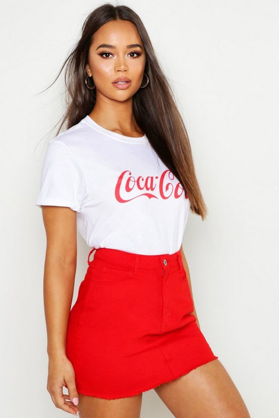Womens White Coca Cola Standard Licence Tee