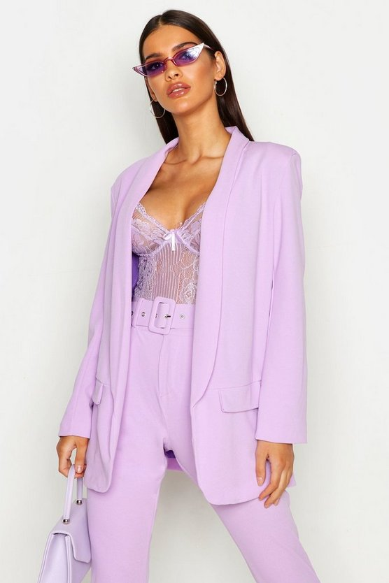 Womens Lilac Tailored Blazer