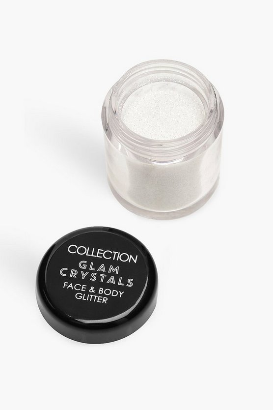 Womens White Collection Crystals Loose Glitter - Unicorn