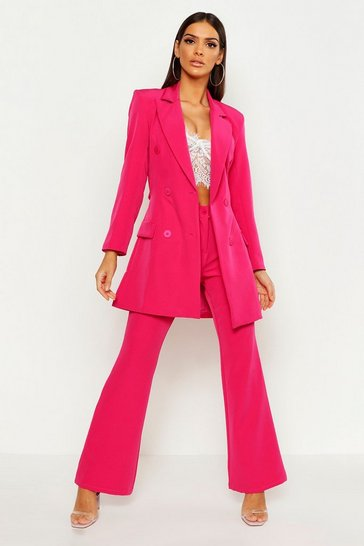 Womens Hot pink Straight Leg Trouser