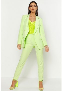 Womens Lime Tailored Pants