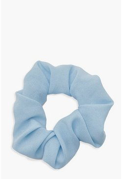 Womens Blue Neon Scrunchie