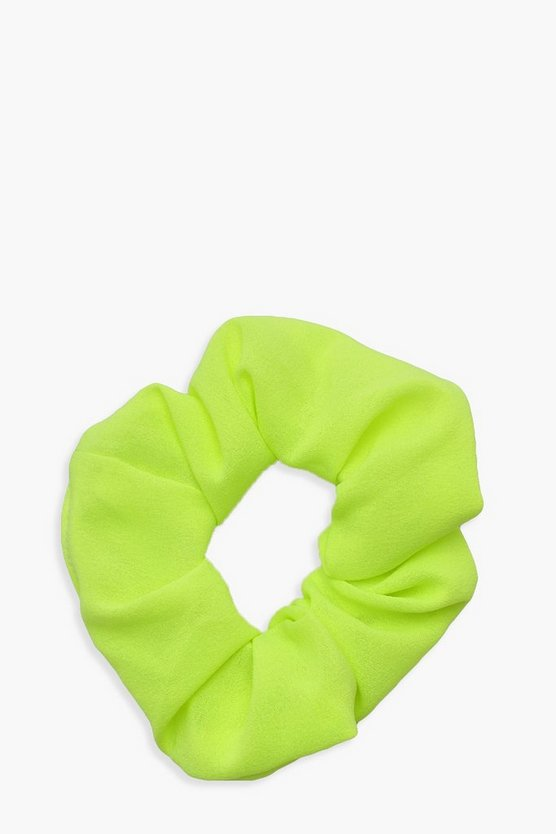 Womens Neon-lime Neon Scrunchie