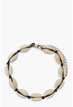 Womens Natural Shell Anklet