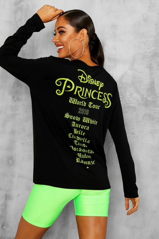 Womens Black Disney Licence Print Long Sleeve T-Shirt