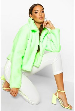Neon-green Neon Bright Faux Fur Jacket