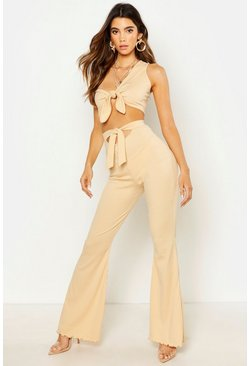 Dam Camel Knot Front Rib Flare Trouser