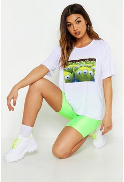 Womens White Disney Alien T-Shirt