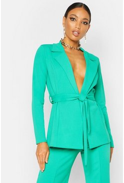 Emerald Tailored Crepe Blazer