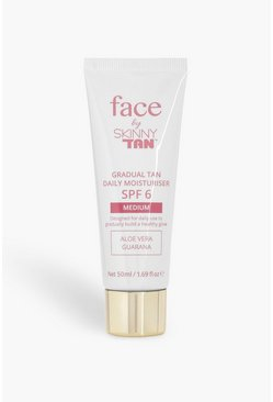 Womens Brown Skinny Tan Face Moisturiser - Medium