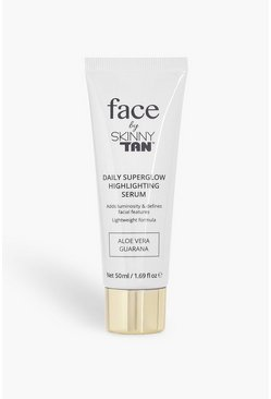 Womens Brown Skinny Tan Face Glow Highlight Serum