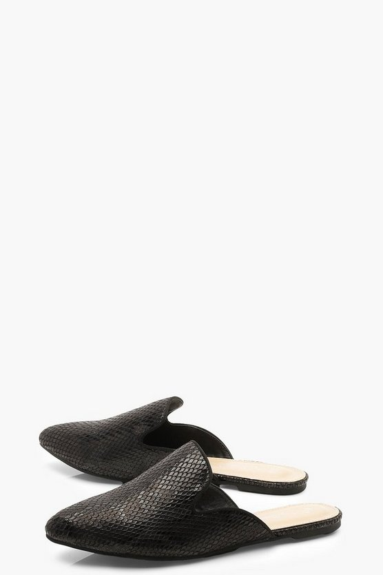 Pointed Flat Mules