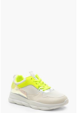 Womens Yellow Bubble Sole Neon Trainers