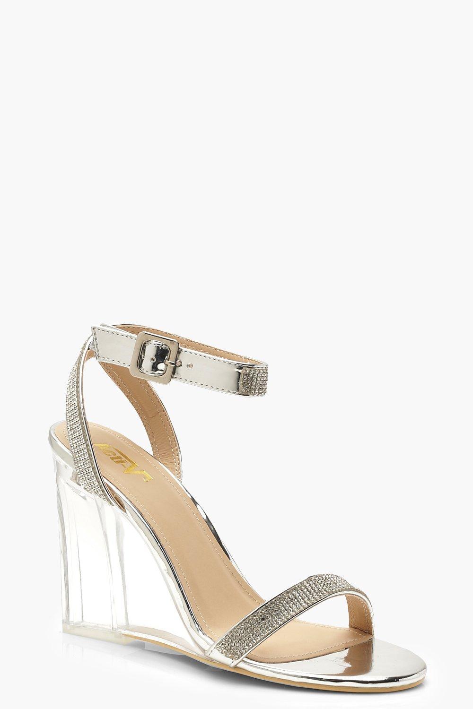 Chaussures Compensée À Semelle Transparentes OrnementsBoohoo EDHW9I2Y