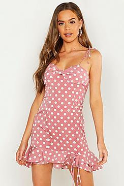 Strappy Frill Hem A-Line Dress