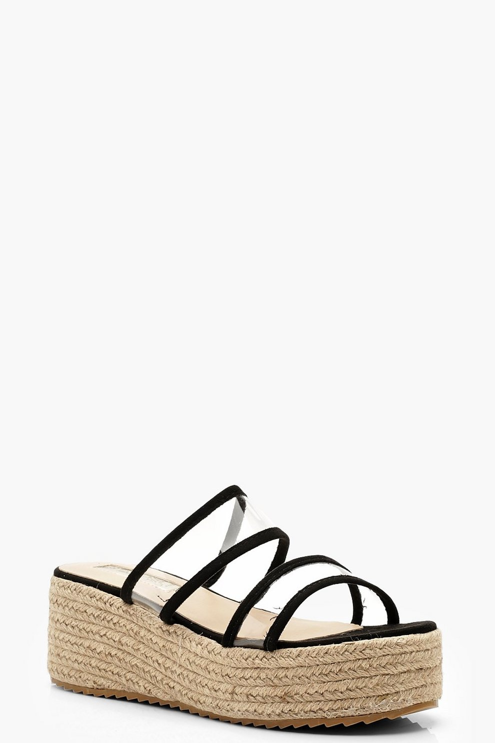 7b99ebaaa34 Clear Panel Espadrille Flatforms