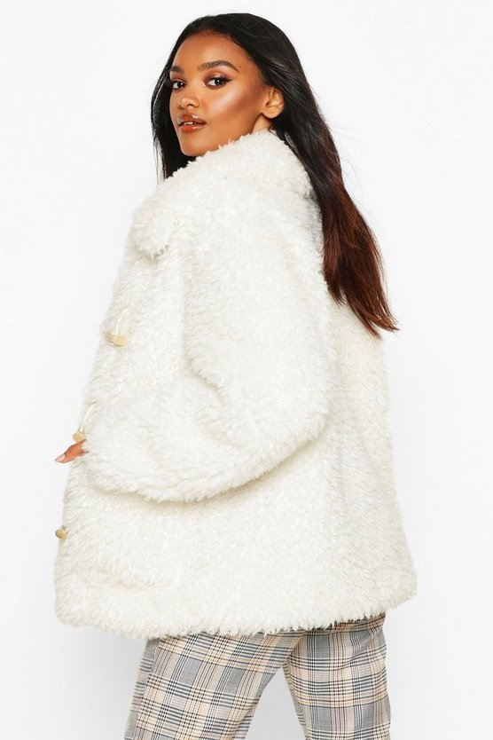 Duffle Curly Faux Fur Coat