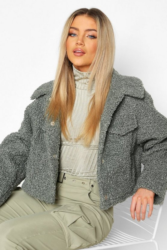 Sage Bonded Teddy Faux Fur Trucker