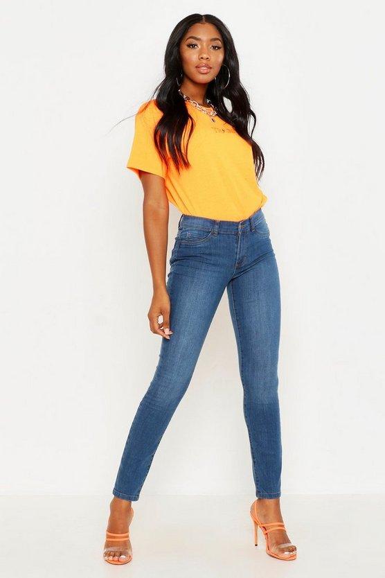 Premium Skinny Stretch Denim Jeans by Boohoo
