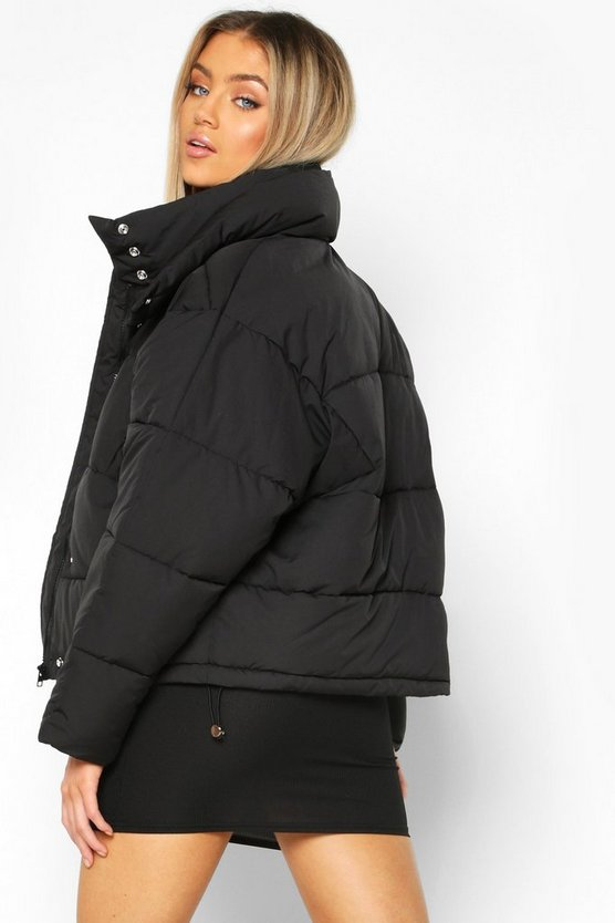 Collar Detail Puffer Jacket