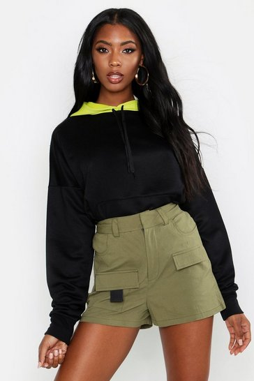Womens Contrast Hooded Oversized Sweat