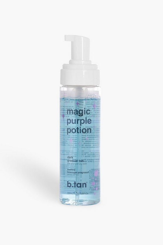 Womens Blue B.Tan Magic Purple Lotion Dark Tan