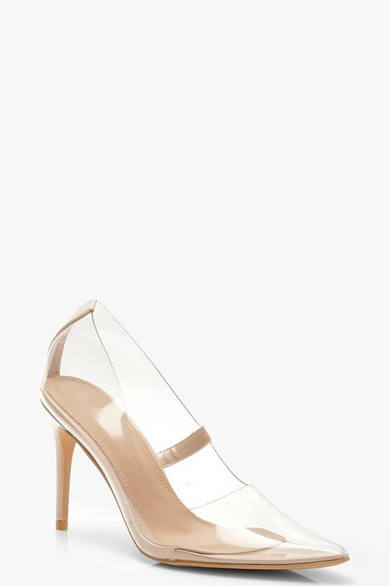 Clear Pointed Toe Courts