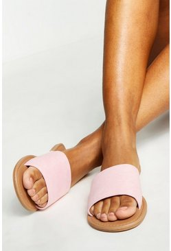 Womens Baby pink Basic 2 Pack Sliders