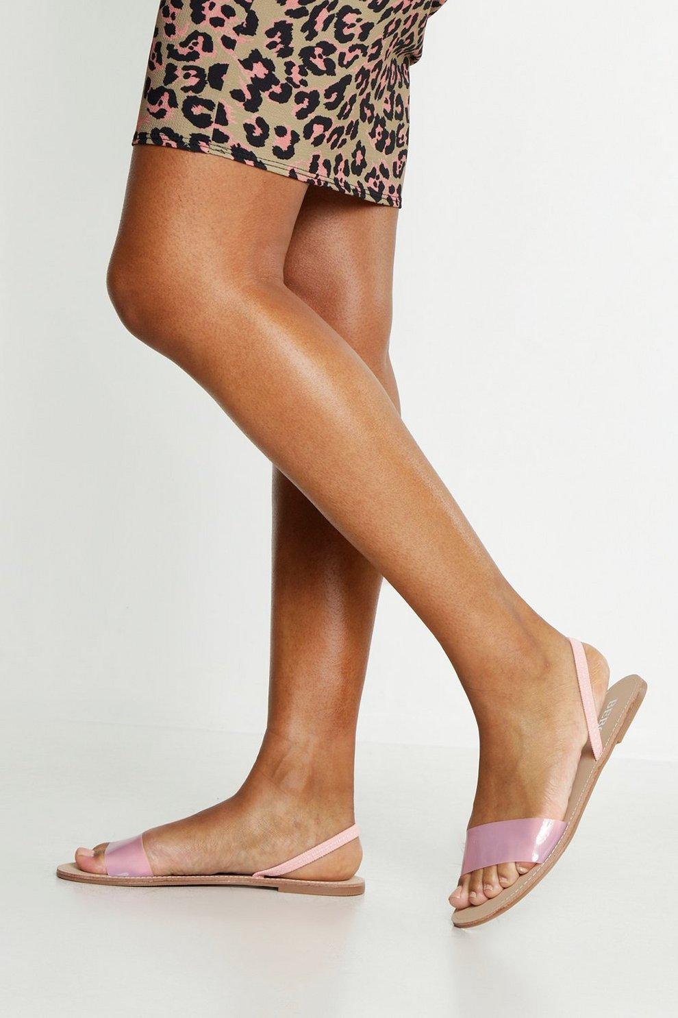 Plates Sandales Arrière Transparentes À Bride ZuPkiwTOX