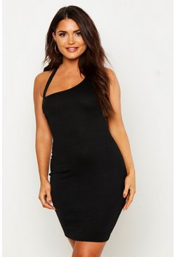 Womens Black Cowl Neck Strappy Bodycon Dress